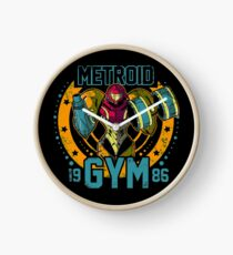 Metroid Gym Clock