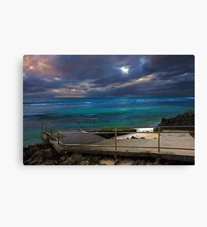 Mettams Pool Beach Ramp  Canvas Print