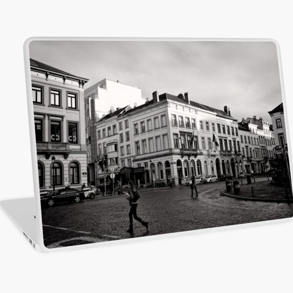 Crossing Luxembourg Square - Brussels Laptop Skin