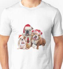 English Bulldog Christmas Family Visits The North Pole T-Shirt