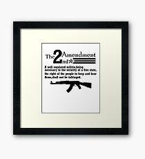 Cool 2nd Amendment Guns black Framed Print