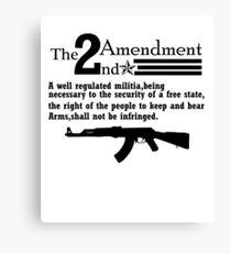 Cool 2nd Amendment Guns black Canvas Print