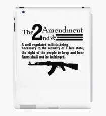 Cool 2nd Amendment Guns black iPad Case/Skin
