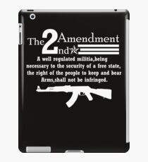 Cool 2nd Amendment Guns white iPad Case/Skin