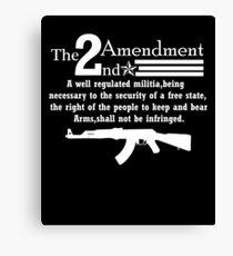 Cool 2nd Amendment Guns white Canvas Print