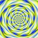 Vortex in Blue and Yellow by Objowl