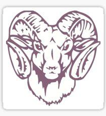 purple ram  Sticker