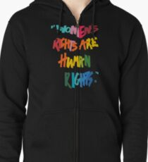Women's Rights Are Human Rights - Anti-Trump Zipped Hoodie