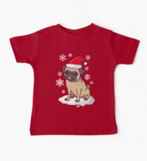 Christmas Pug (red) Kids Clothes