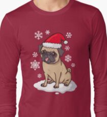 Christmas Pug (red) Long Sleeve T-Shirt