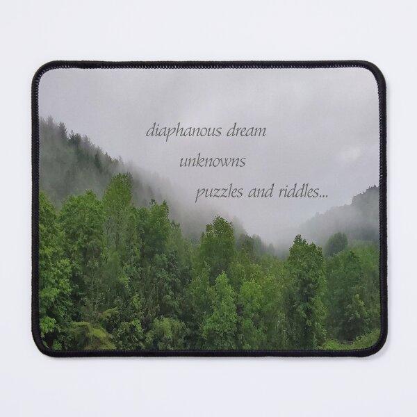 Diaphanous Dream - Poetry Photo Art Mouse Pad