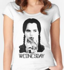 Wednesday Addams | The Addams Family Women's Fitted Scoop T-Shirt