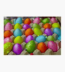 Coloured eggs Photographic Print