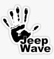 Jeep Wave black color design Sticker