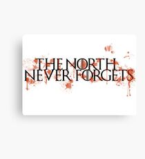 Game Of Thrones - The North Never Forgets Canvas Print