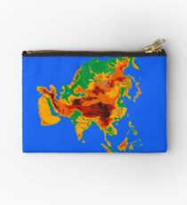 Asia Topographical Map Studio Pouch