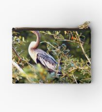 Anhinga on tree limb Studio Pouch