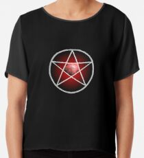 Jewelled Pentagram Chiffon Top