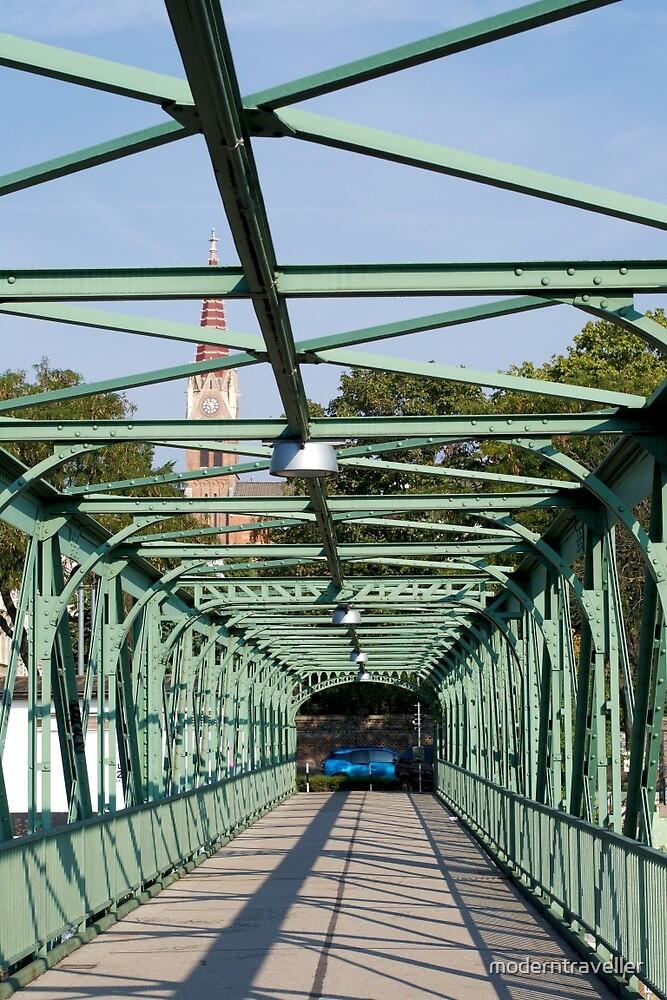 Cast iron pedestrian bridge, Vienna by moderntraveller