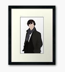 Sherlock Vector Framed Print