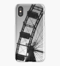Monochrome ferris wheel, Vienna iPhone Case/Skin