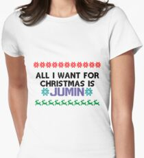 All I want for Christmas is Jumin Women's Fitted T-Shirt