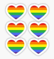 Gay Heart Stricker Set Sticker
