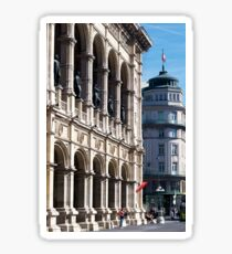Vienna street and buildings Sticker
