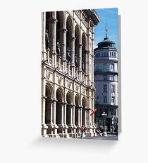 Vienna street and buildings Greeting Card