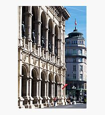 Vienna street and buildings Photographic Print
