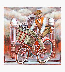 Tweed Runner on Red Pashley Photographic Print