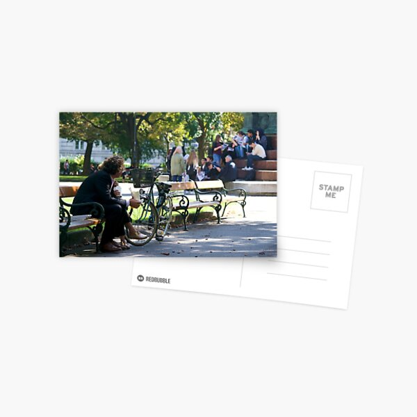 People on a park bench, Vienna Postcard