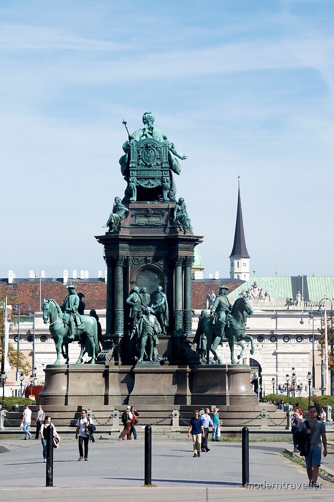 Central Vienna statues and buildings by moderntraveller