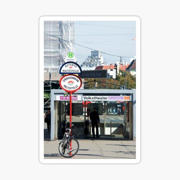 Vienna underground station entrance Sticker
