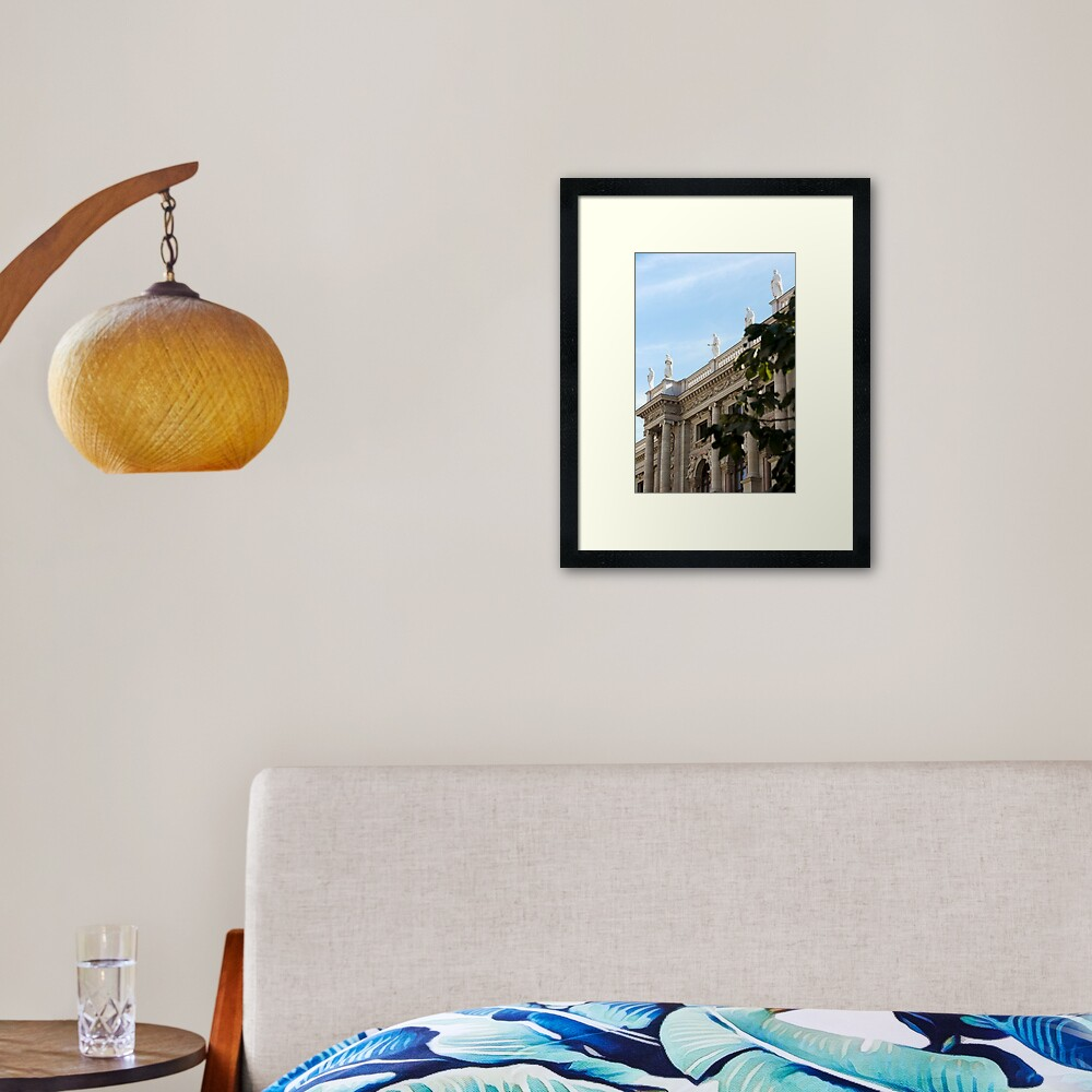 Traditional building frontage, Vienna Framed Art Print