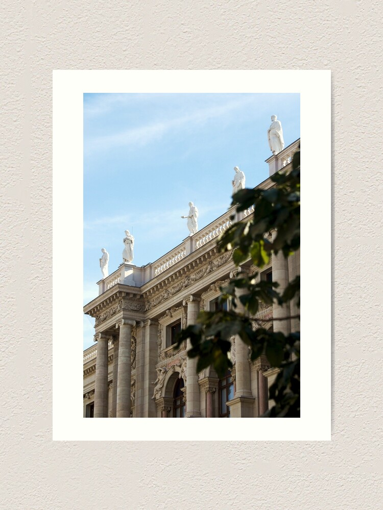 Alternate view of Traditional building frontage, Vienna Art Print