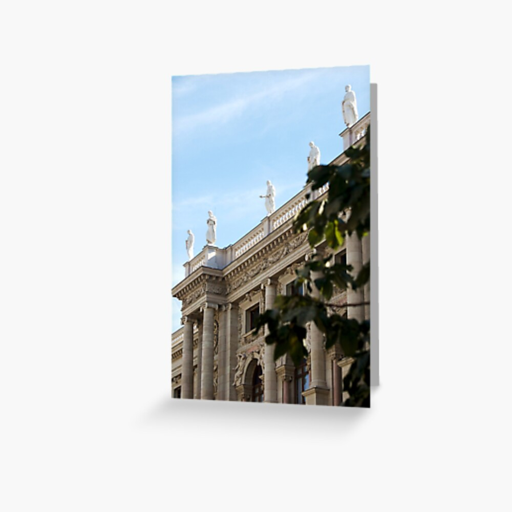 Traditional building frontage, Vienna Greeting Card