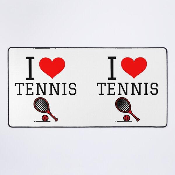 I Love Tennis Desk Mat