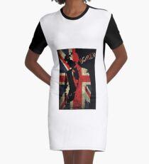 Sherlock Bored Vector Graphic T-Shirt Dress