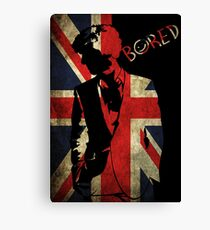 Sherlock Bored Vector Canvas Print