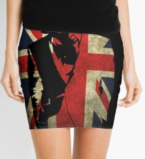 Sherlock Bored Vector Mini Skirt