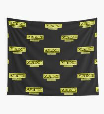 Caution! Walking Disaster Wall Tapestry