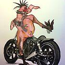 Biker Chick by paulaveschore