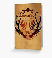 Marauders. Greeting Card