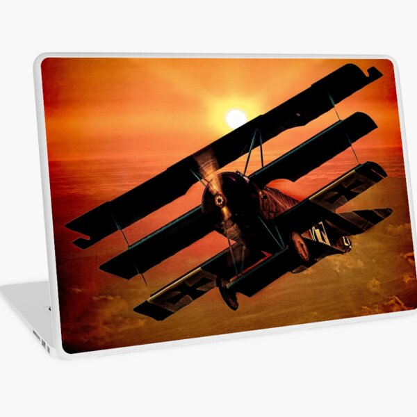 The Bloody Red Baron's Fokker at Sunset Laptop Skin