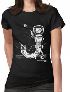 Dr. Johan Von Skinkely Investigates Sector 12 (White Version) Womens Fitted T-Shirt