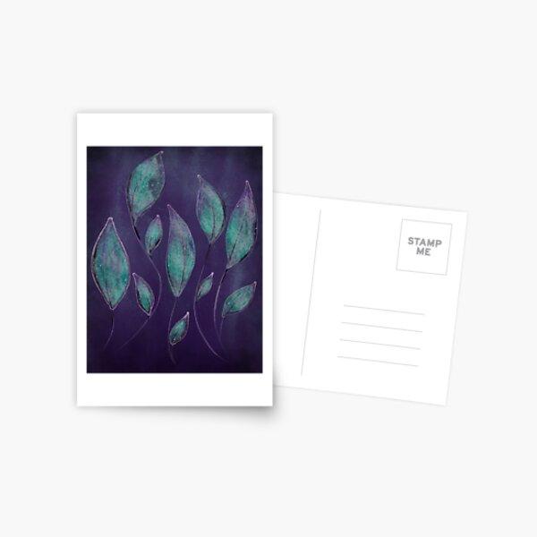 Ethereal Leaves Postcard