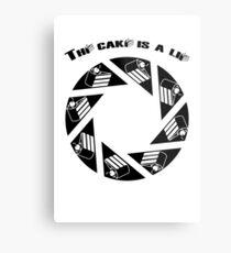 Tha cake is a lie Metal Print