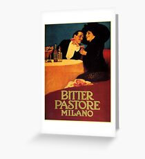 Vintage poster - Bitter Pastore Milano Greeting Card