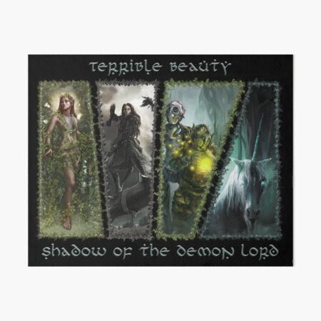 Terrible Beauty: Faerie of Shadow of the Demon Lord Art Board Print